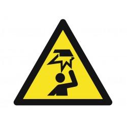 Panneau danger risques de chocs