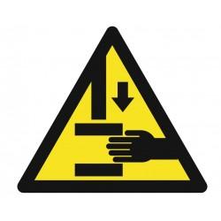 Panneau danger risque d'écrasement des mains