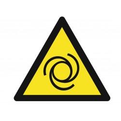 Panneau danger risque entrainement mécanique