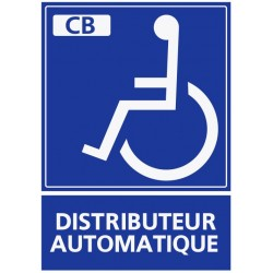 Panneau distributeur automatique handicapé paiement CB