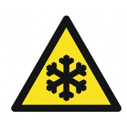 Panneau danger basses temperatures
