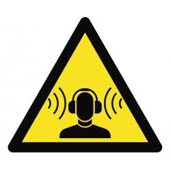 Panneau danger bruits forts