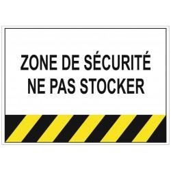 Panneau danger zone de sécurité ne pas stocker