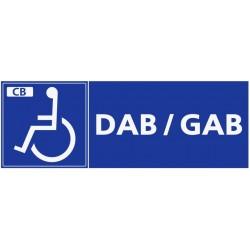 Panneau handicapé DAB/GAB