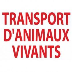 Autocollant transport animaux vivants