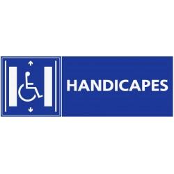 Panneau zone handicapés