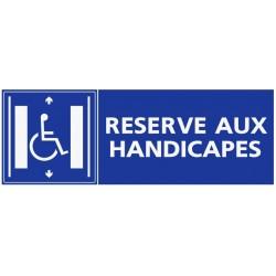 Panneau zone réservé aux handicapés