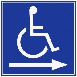 Panneau handicapé - direction gauche