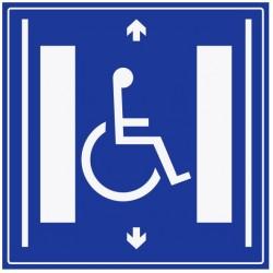 Panneau ascenseur handicapé