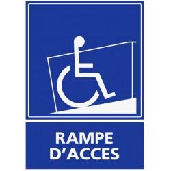 Panneau handicapé rampe d'accès