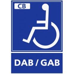 Panneau handicapé DAB/GAB paiement cb