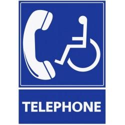 Panneau handicapé téléphone
