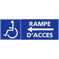Panneau handicapés rampe d'accès - direction gauche
