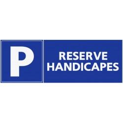 Panneau places réservées handicapés