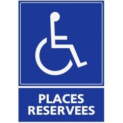 Panneau places réservées