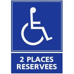 Panneau 2 places réservées