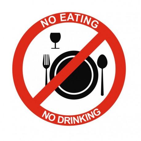 Panneau interdiction no eating no driking