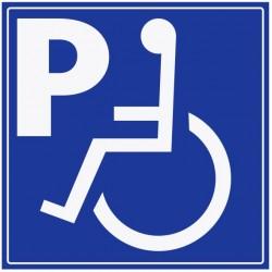 Panneau place handicapé