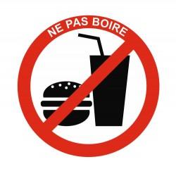 Panneau interdit de boire