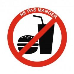 Panneau interdiction ne pas manger