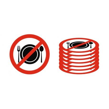 Panneau interdiction de manger