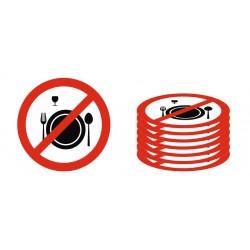 Panneau interdiction ne pas manger et ne pas boire