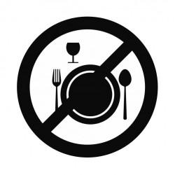 Panneau interdiction de manger et boire