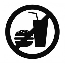 Panneau interdiction pique-nique interdit