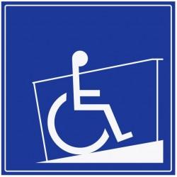 Panneau rampe d'accès fauteuil