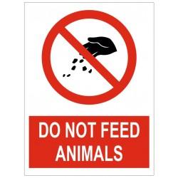 Panneau interdiction do not feed animals