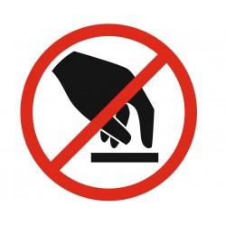 Panneau ou autocollant interdiction de toucher