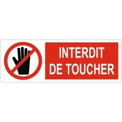 Panneau ou autocollant interdit de toucher