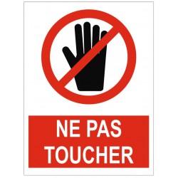 Panneau ou autocollant interdiction ne pas toucher