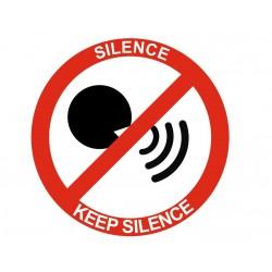 Panneau interdiction silence keep silence