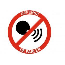 Panneau interdiction défense de parler