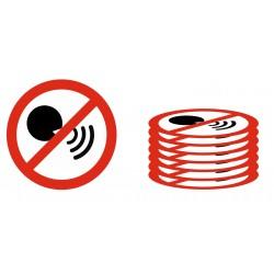 Panneau interdiction lot défense de parler