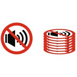 Panneau interdiction lot bruit interdit