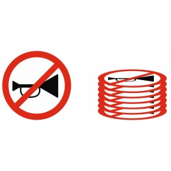 Panneau interdiction lot avertisseurs sonores interdits