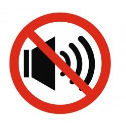 Panneau interdiction bruit interdit