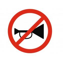 Panneau interdiction avertisseurs sonores interdits