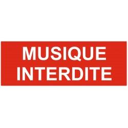 Panneau interdiction musique interdite