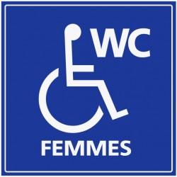 Panneau WC femmes handicapés