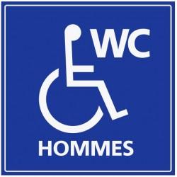 Panneau WC hpmmes handicapés