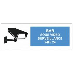 Autcollant Bar sous surveillance 24H/24