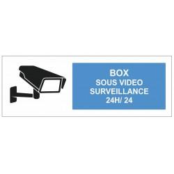 Autocollant box sous surveillance 24H/24