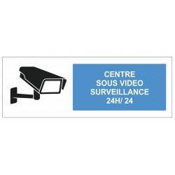 Autocollant centre sous surveillance vidéo