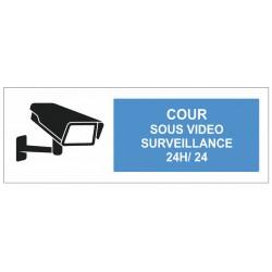 Autocollant cour sous surveillance vidéo