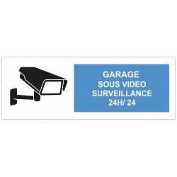 Autocollant garage sous surveilance vidéo