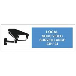 Autocollant local sous surveillance vidéo