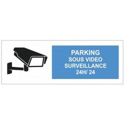 Autocollant parking sous surveillance vidéo